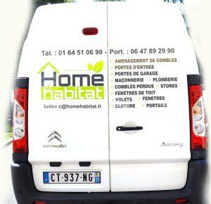 Flocage des camions de Home Habitat